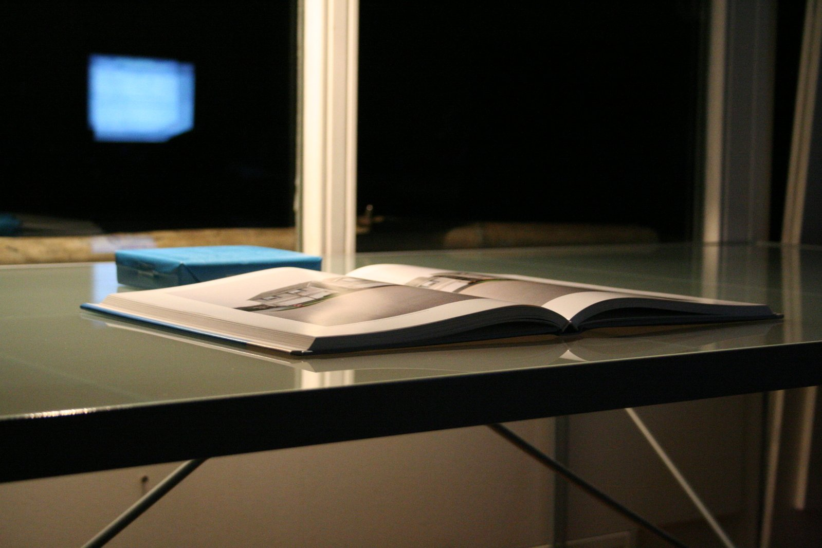 A book on a desk