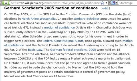 Constructive vote of no confidence
