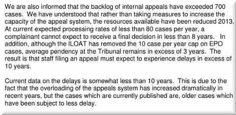 EPO justice delays