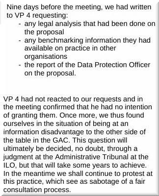 General Advisory Committee on VP4