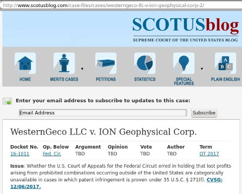 WesternGeco LLC v. ION Geophysical Corp.