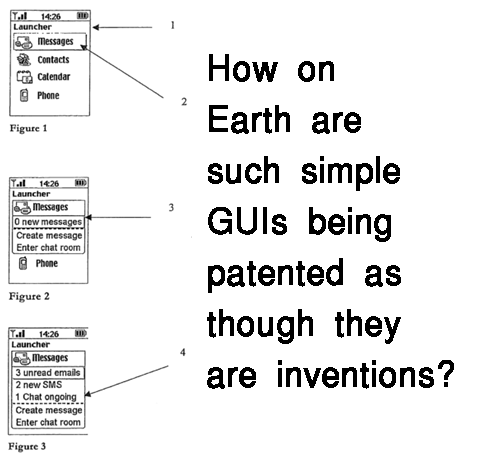 How on Earth are such simple GUIs being patented as though they are inventions?