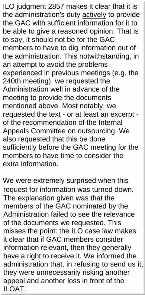 ILO and GAC