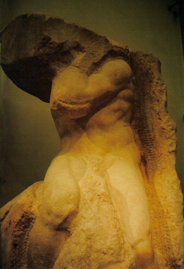 Michelangelo's slave sculpture