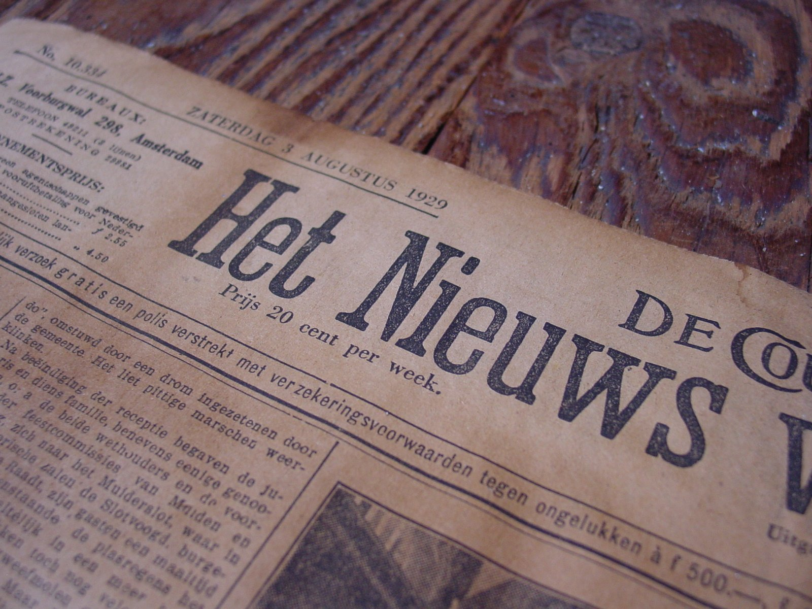 An old newspaper