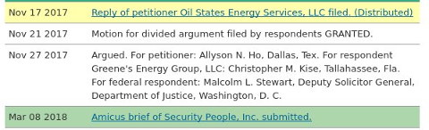 Oil States Energy Services, LLC v Greene's Energy Group, LLC update