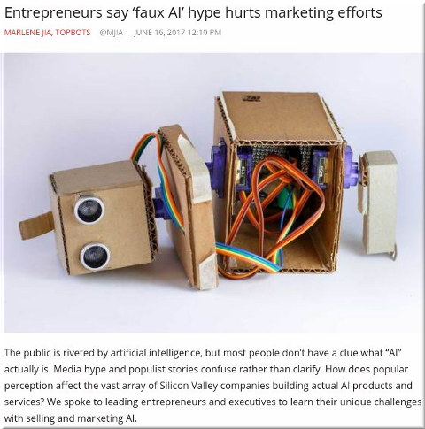 Entrepreneurs say 'faux AI' hype hurts marketing efforts
