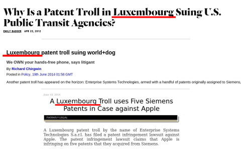 Luxembourg patent trolls