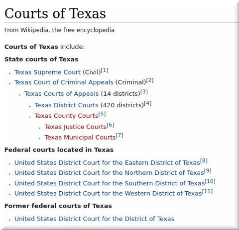 Courts of Texas