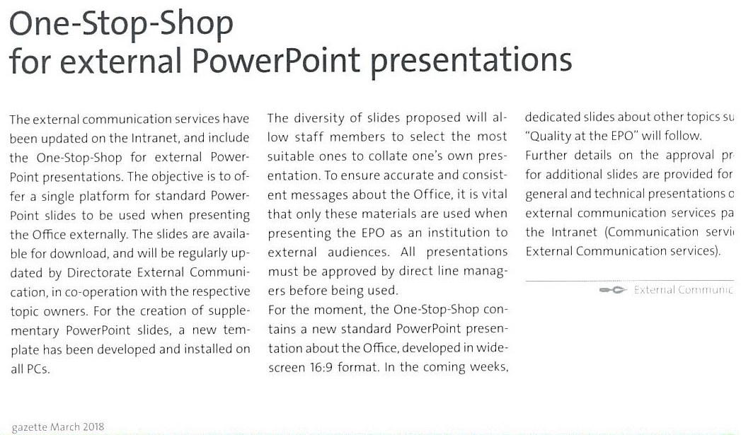 EPO PowerPoint