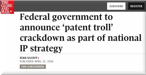 Federal government to announce 'patent troll' crackdown as part of national IP strategy