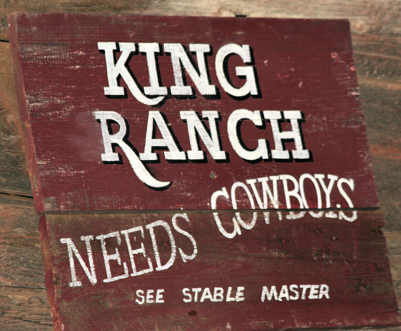 A ranch sign