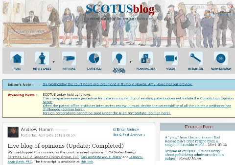Scotusblog Live Blog