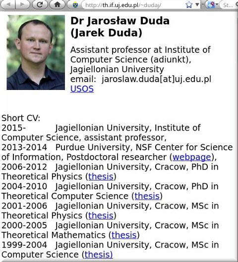 Jarek Duda