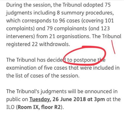 ILO postpones