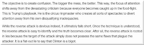 Hillary Clinton is a bigot? The art of the reverse attack