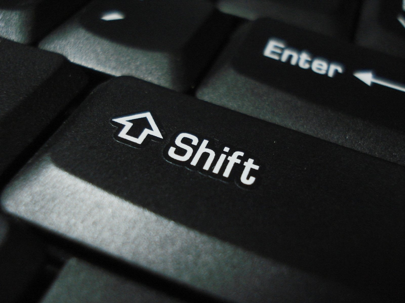 Shift on keyboard