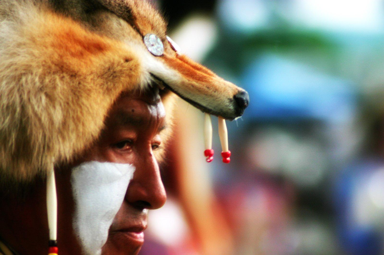 Powwow dancer