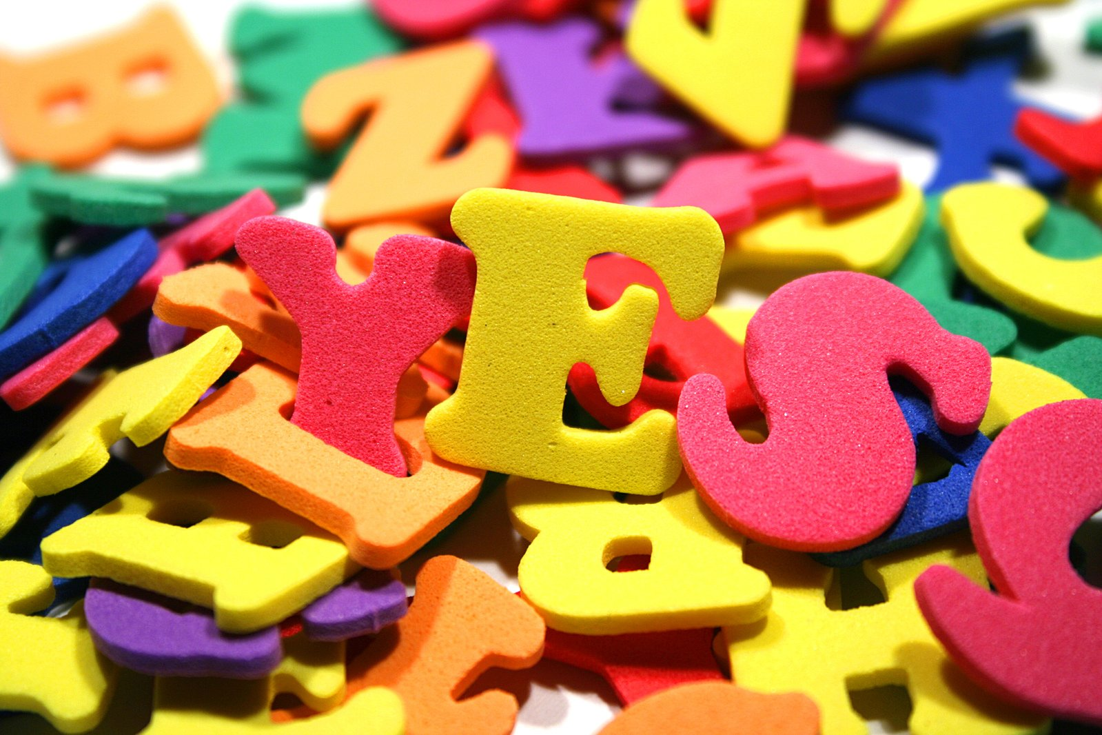 Colour letters