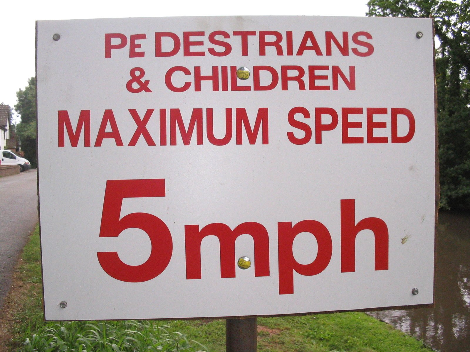 Low maximum speed