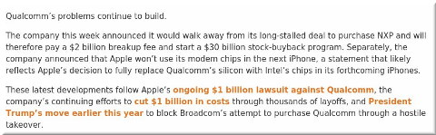 Qualcomm loses Apple's business and drops NXP deal. What's next?