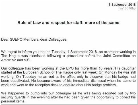 Rule of Law and respect for staff: more of the same
