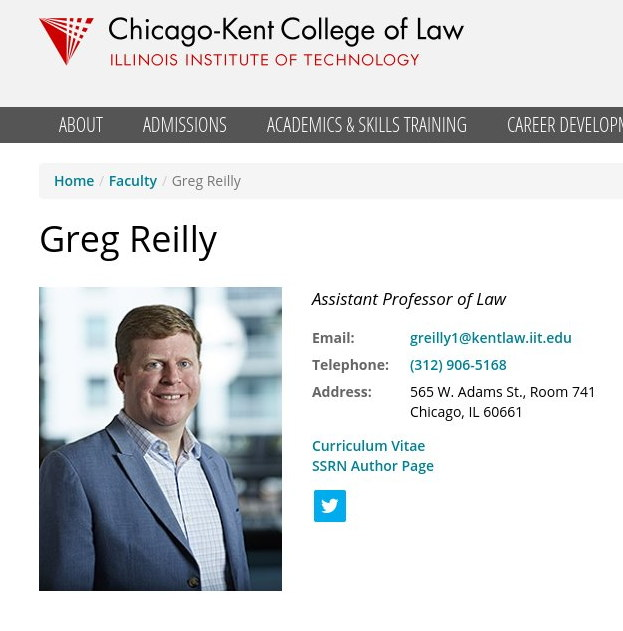 Greg Reilly, IIT Chicago-Kent College of Law