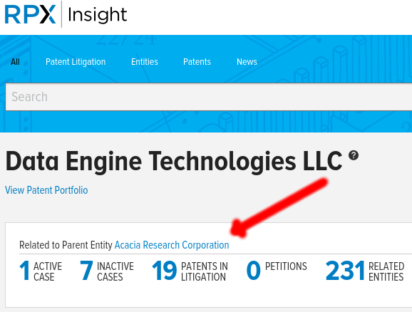 Data Engine Technologies (DET) and Acacia Research Corp.