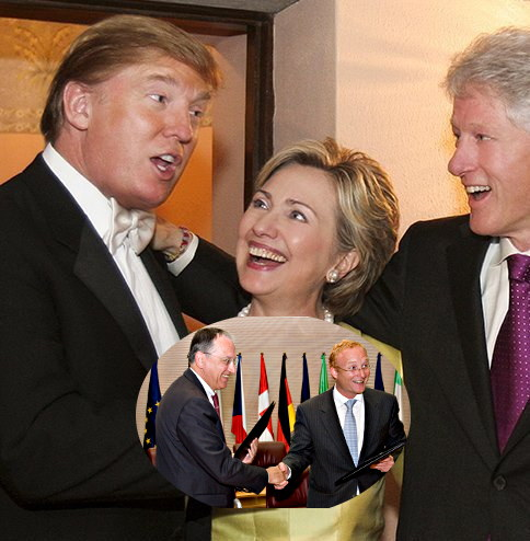 The Clintons, Battistelli and Campinos