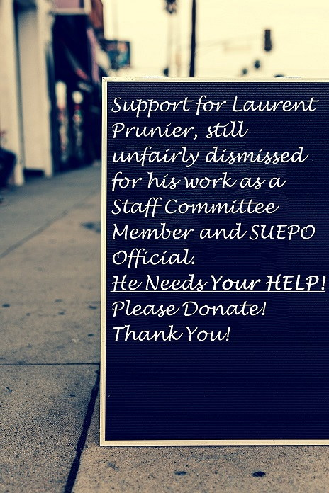 SUEPO Support/Solidarity with Laurent Prunier