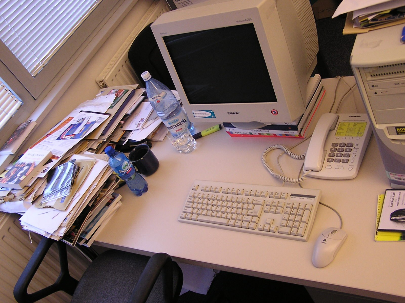 A messy desk