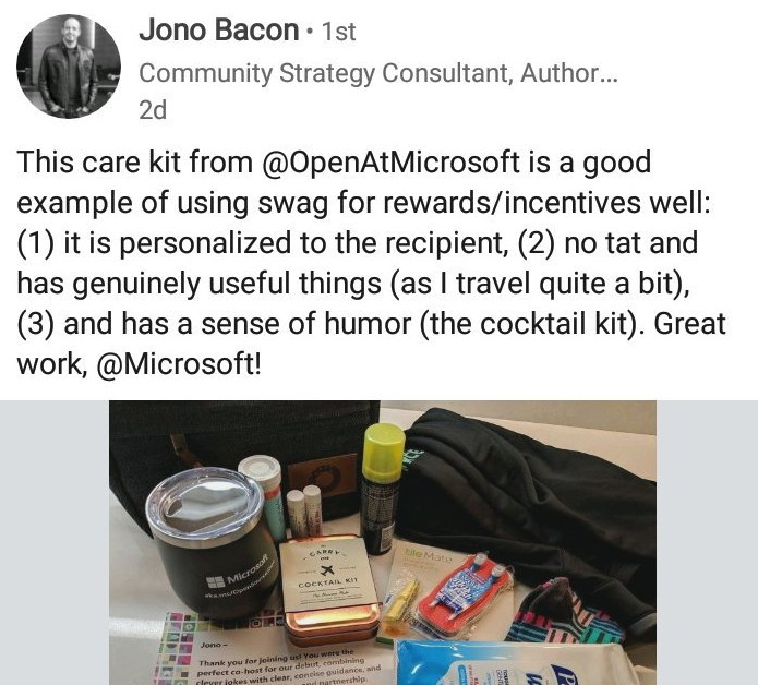 Jono Bacon for Microsoft