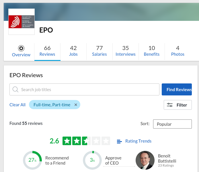 The Glassdoor EPO overview