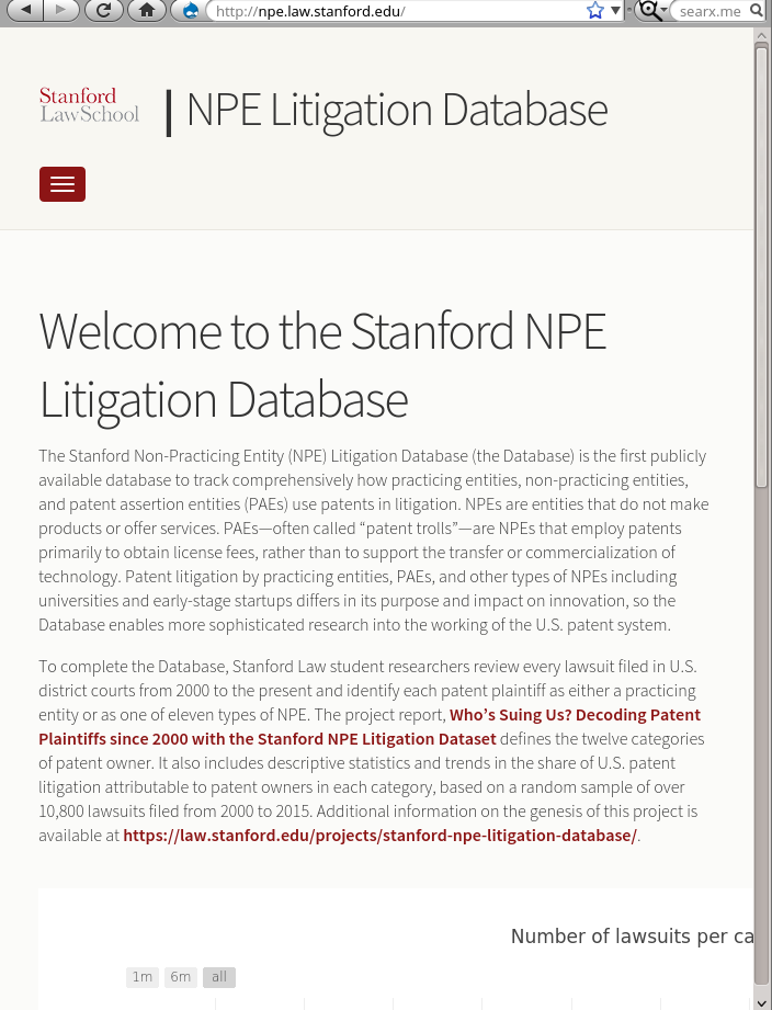 NPE Litigation Database