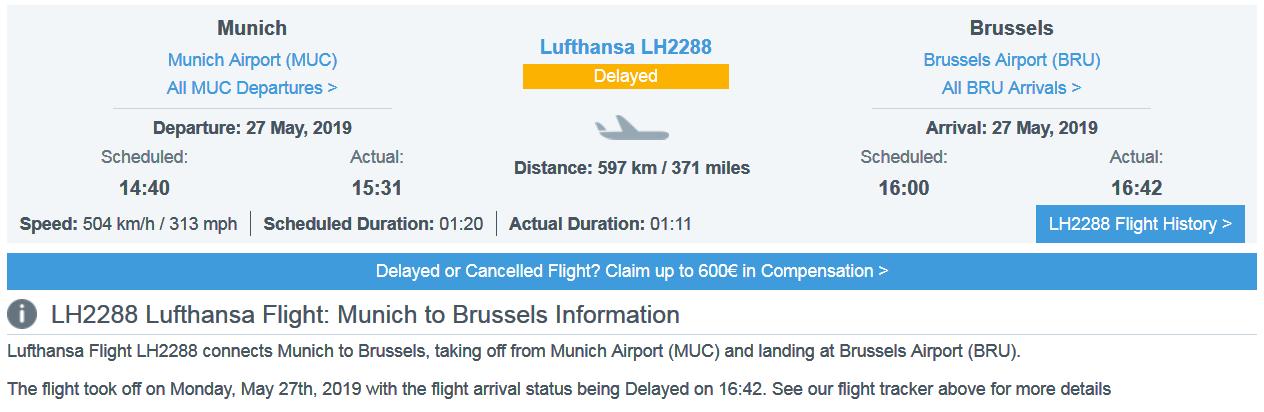 LH2288 delay