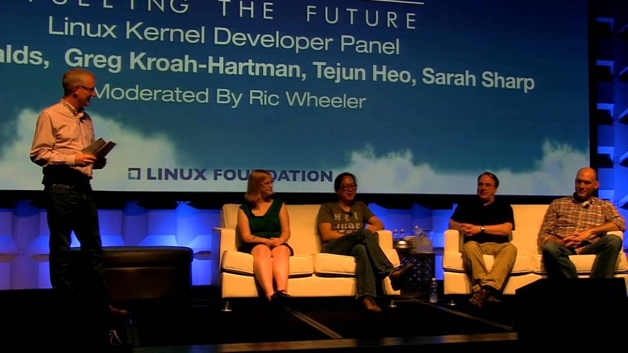From LinuxCon & CloudOpen North America in New Orleans, LA. A roundtable discussion on the Linux Kernel from maintainers Tejun Heo, Greg Kroah-Hartman, Sarah Sharp and Linus Torvalds. The session is moderated by Ric Wheeler.
