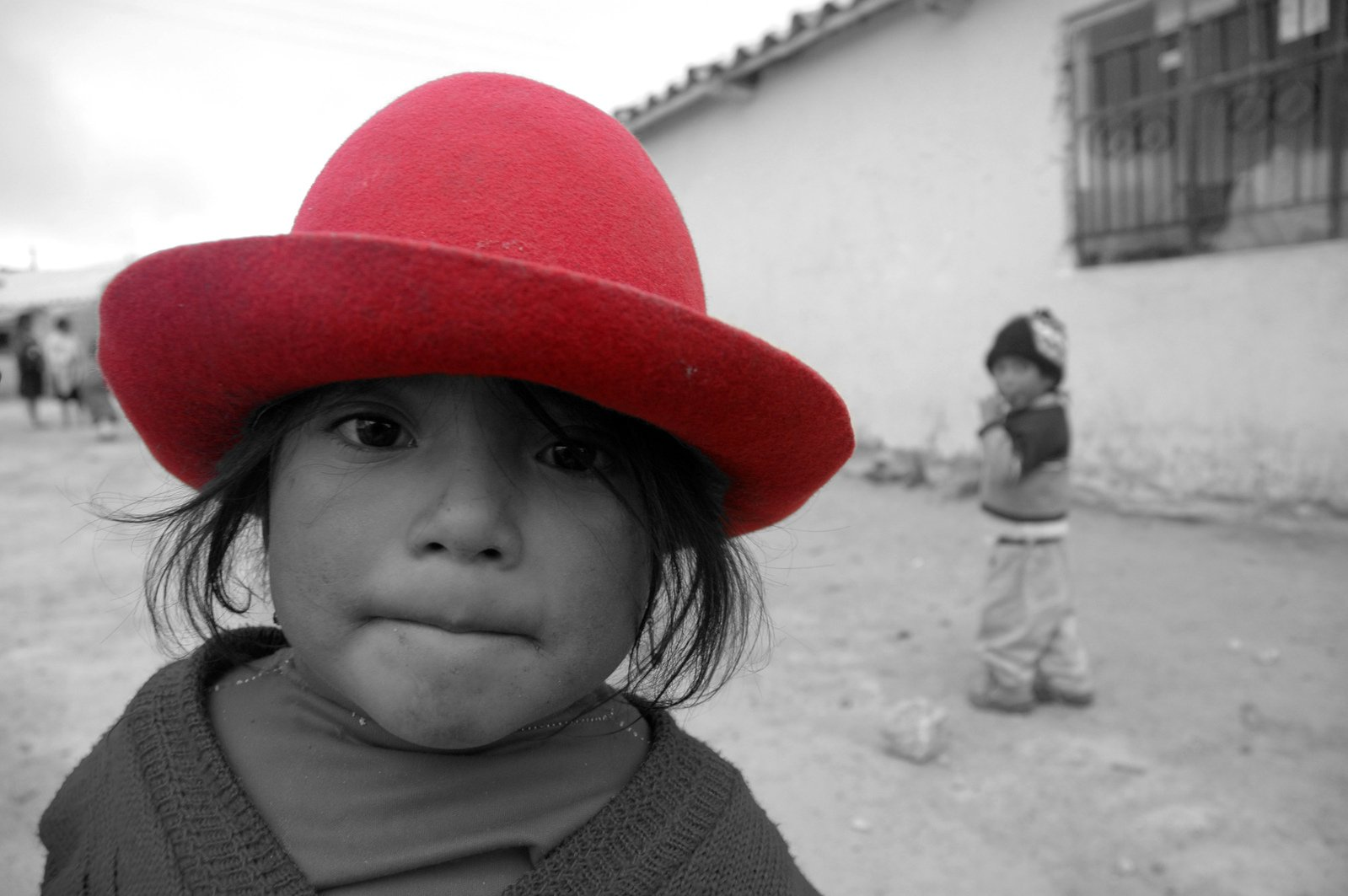 Red hat on a girl