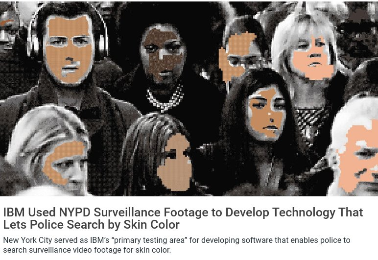 IBM recently published a dataset for facial recognition AI made up of images...