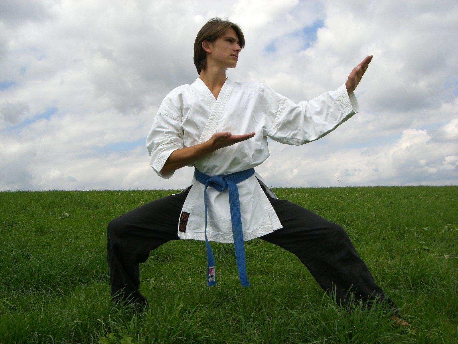 Doing karate