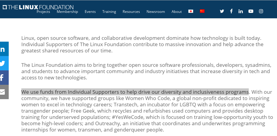 Linux Foundation fund laundering