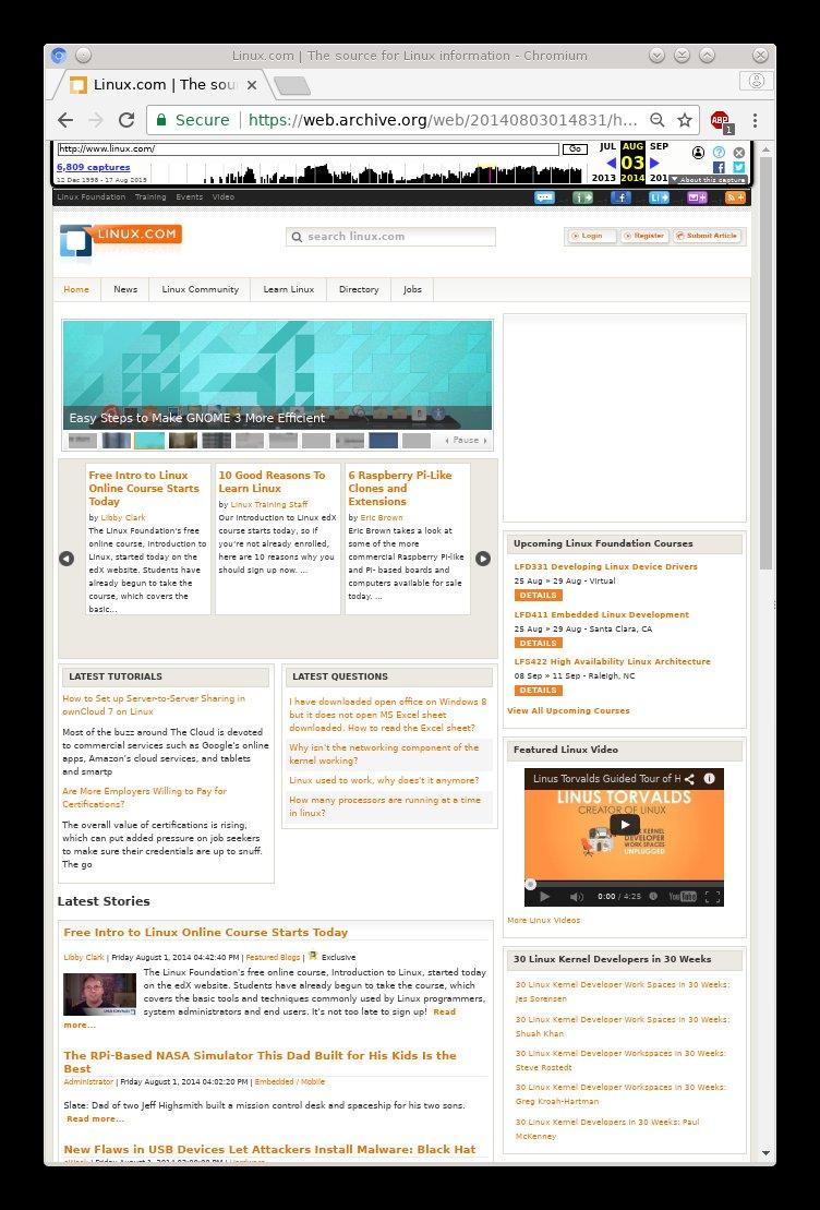 Linux.com in 2014