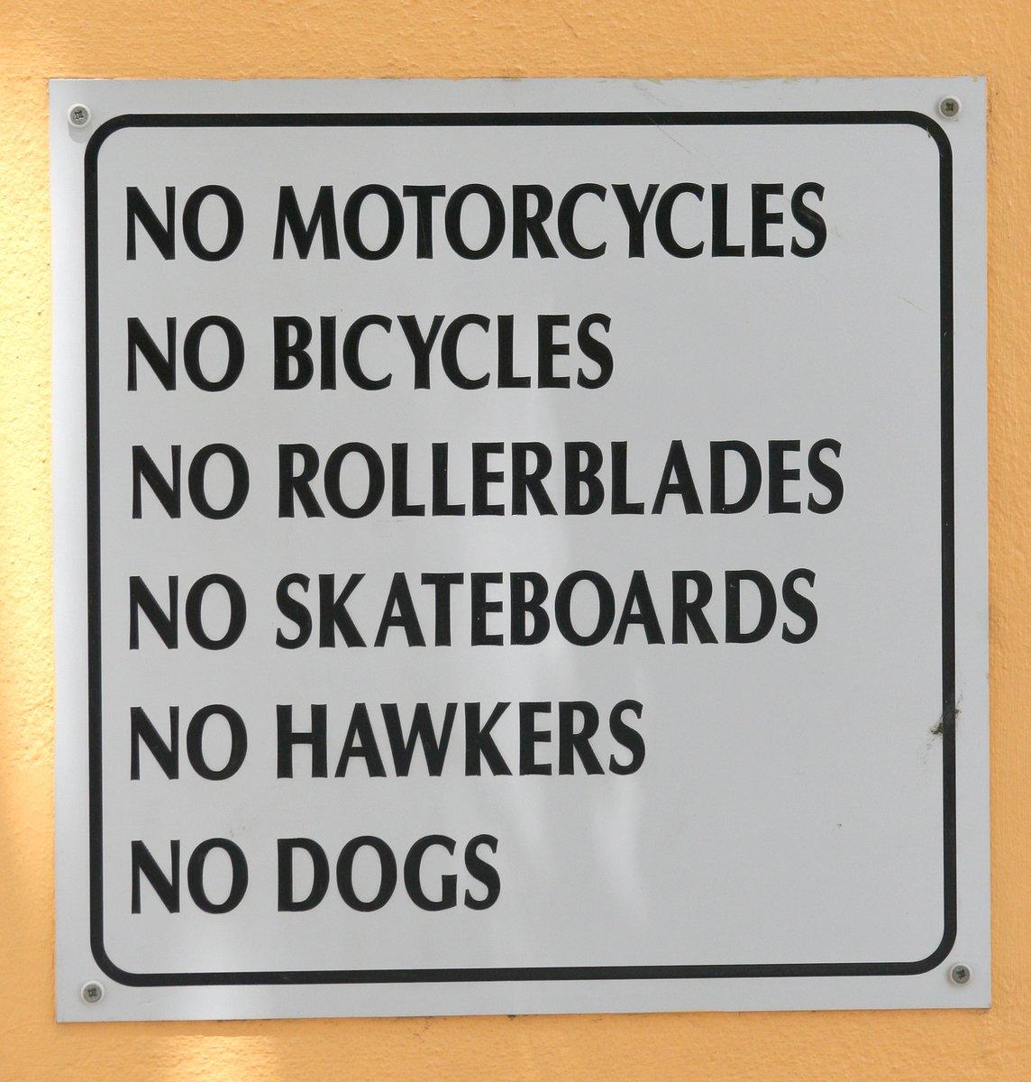 No rollerblades