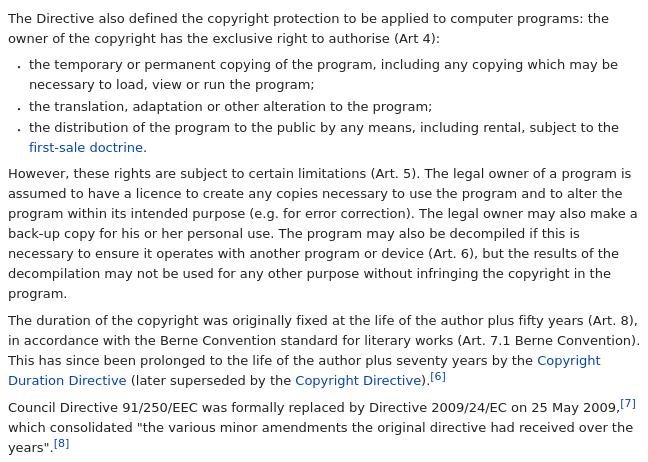 Computer Programs Directive