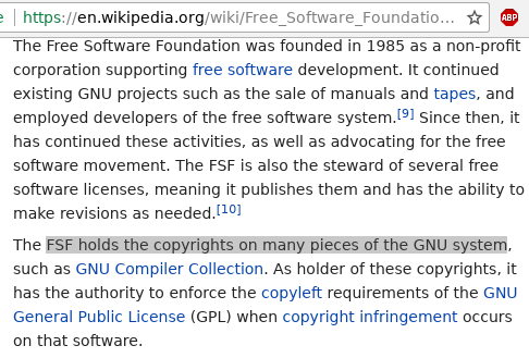 Free Software Foundation History