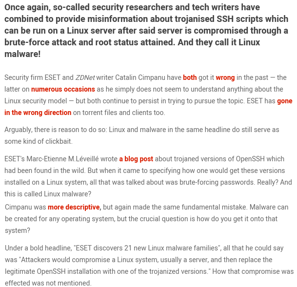 Linux malware: is it so hard to get it right?