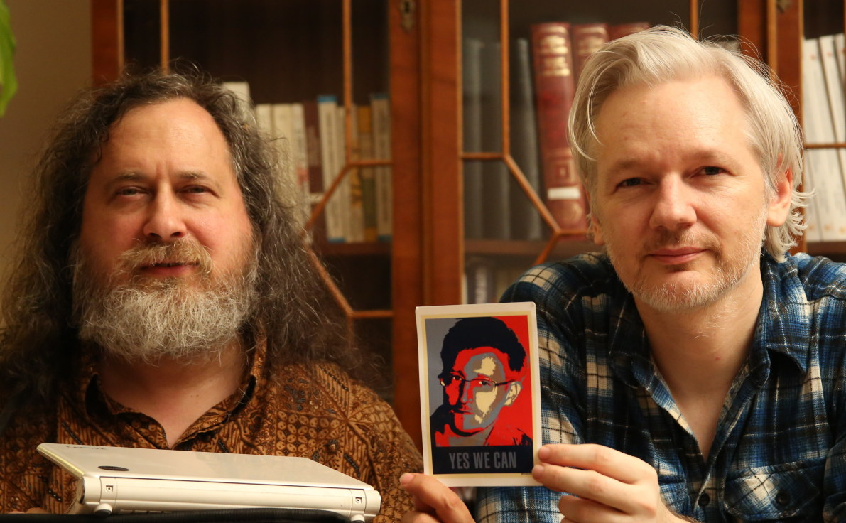 Stallman and Assange in focus