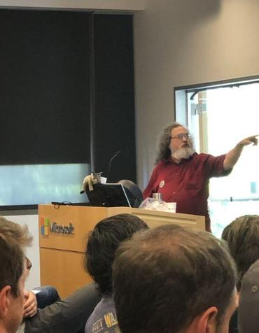 Stallman at Microsoft