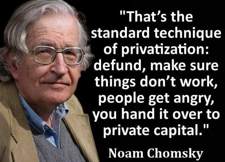 4-stage privatisation Chomsky