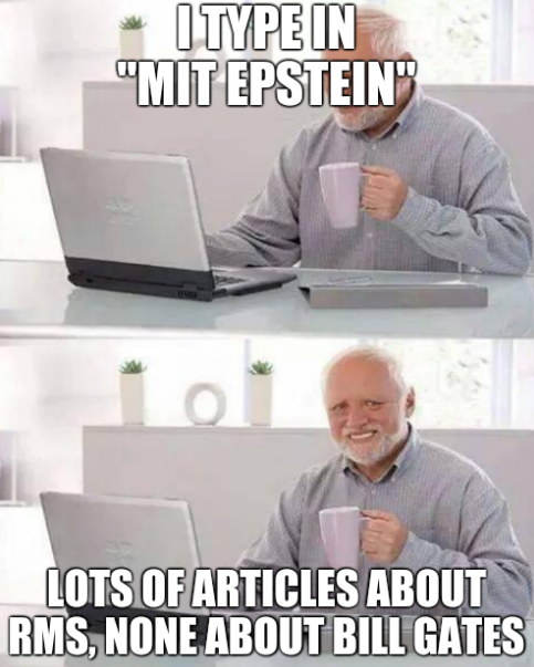 I type in 'MIT EPSTEIN'. Lots of articles about RMS, none about Bill Gates