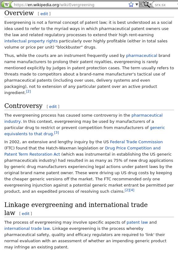 Patent Evergreening